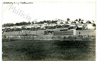 1915 Ww1 Scarce Rp Pu Postcard Aif Military Camp Castlemaine Vic Local Photo Y28