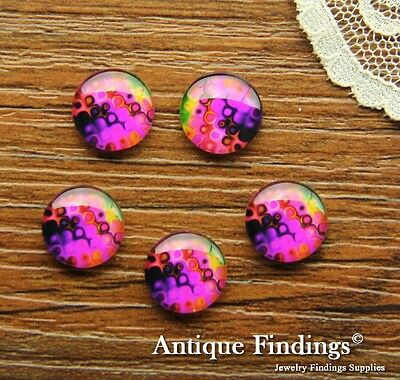 10PCS 12mm Handmade Photo Glass Cabochon Dome Cameo Cabs BCH254W