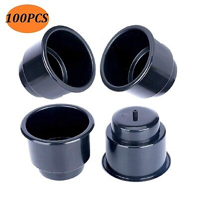 100x Boat/RV/Car/Marine Black Plastic Recessed Drop in Plastic Cup Drink Holder