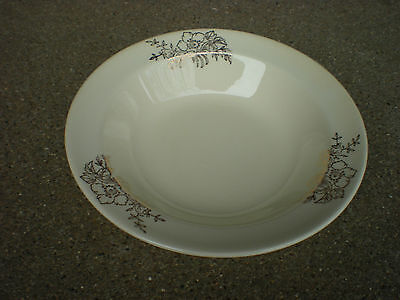 Taylor Smith Taylor Berry Bowl with Gold Flowers Golden Floral  USA