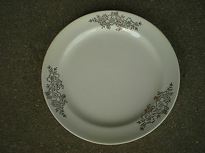 Taylor Smith & Taylor Dessert/Bread Plate with Gold Flowers Golden Floral  USA