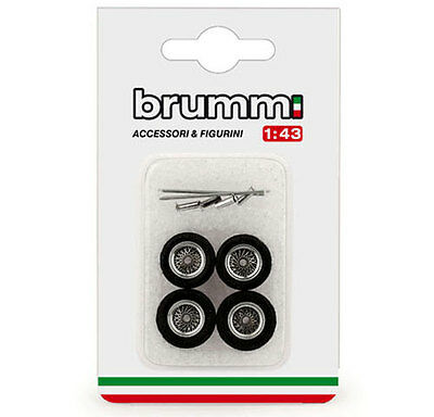Brumm F089 Ferrari 250 GTO 1962 4 Spoked Wheels set with axels/spinners 1/43