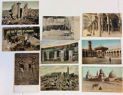 Antique Mixed Lot Of Egyptian Postcards Cairo Mosques Karnak Edfou Ramses EGY5
