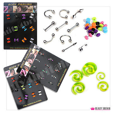 120 x BODY PIERCING 10 DISPLAY STANDS DIFFERENT DESIGNS & SIZE WHOLESALE FROM UK