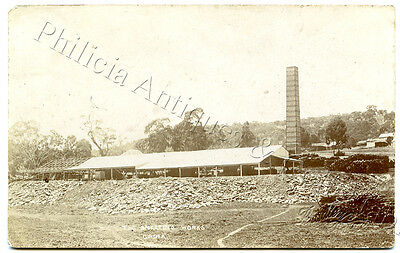 1909 Very Scarce Rp Pu Postcard The Smelting Works Cadia Copper Mine Nsw Y41