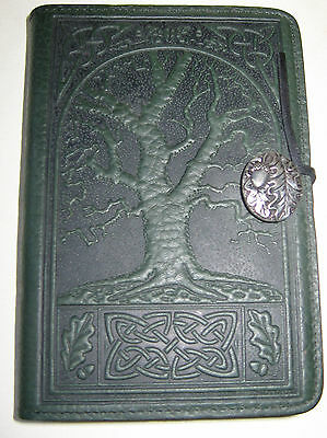 OBERON LEATHER DESIGNS,. SMALL 5X7 CELTIC OAK TREE JOURNAL DIARY