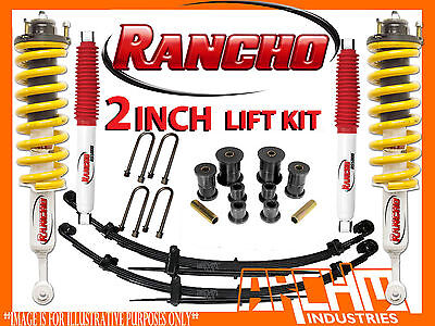 TOYOTA HILUX KUN26R / GGN25R 2005-2014 RANCHO 50mm 2 INCH SUSPENSION LIFT KIT