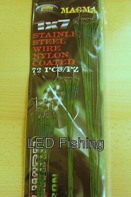 PIKEFishing Lineaeffe 72pc Stainless Steel Wire Nylon Coated Pike/Sea Traces