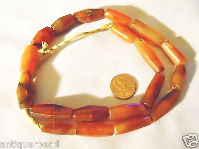 Fulani Tribal Small Vintage Brown Agate Beads Antique  Trade Beads 1