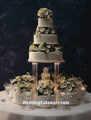 11 TIER FOUNTAIN WEDDING CAKE STAND STANDS SET