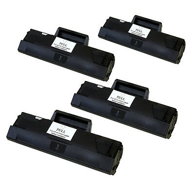 4Pk Toner Cartridge For Samsung Mlt-D104S Ml1660 Ml1661 Ml1665 Ml1666 Ml1670