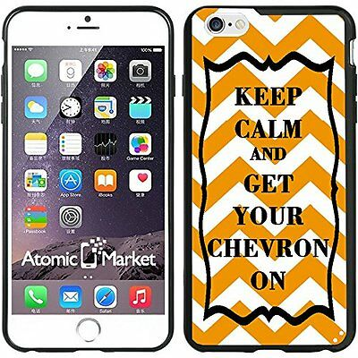 Orange Keep Calm and Get Your Chevron On For Iphone 6 Plus 5.5 Inch Case Cover
