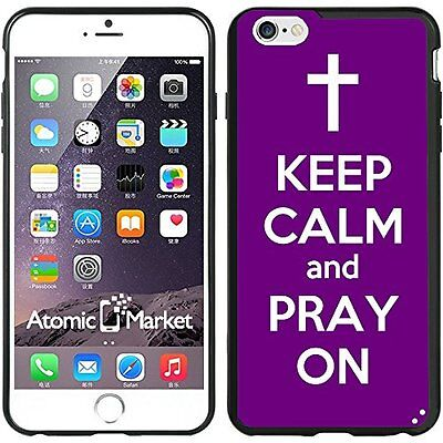 Purple Keep Calm and Pray On For Iphone 6 Plus 5.5 Inch Case Cover