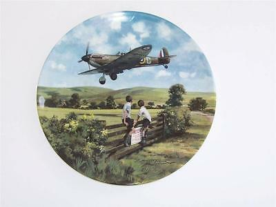 """Royal Doulton Collectors Plate.""""Spitfire Coming Home""""."""
