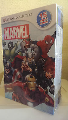 Marvel Comics Dk Readers Superhero Collection - 15 Book Slipcase Set Rrp £74.85!