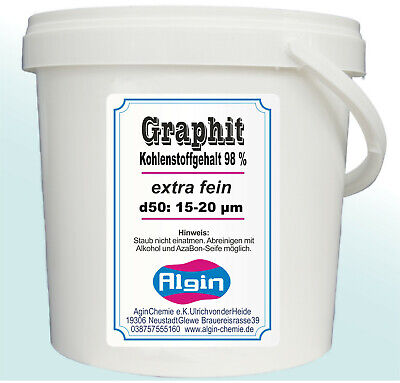 Graphitpulver 99% superfein 19 µm 1000ml Eimer