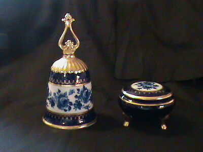 Paramount Classics Bell & Trinket Box Bavaria 1978 Blue collectible gift