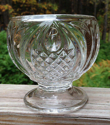 New England Pineapple Flint Glass Sugar low footed no lid