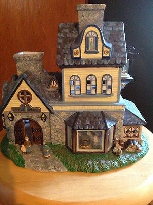 PartyLite Candle Shoppe Tea lite House.  In Box.  Slight Use.