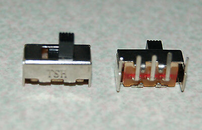 2pcs SS12F23 5pin 1P2T 2 Position Mini Horizontal Slide Switch
