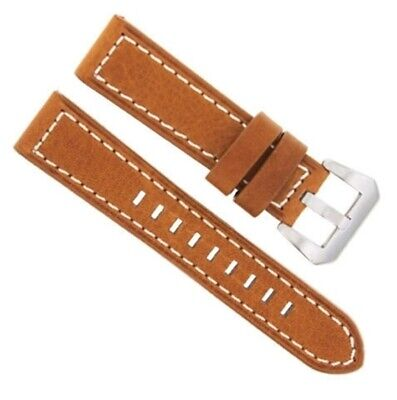 24Mm Premium Leather Watch Band Strap For 44Mm Panerai Tan Ws #3