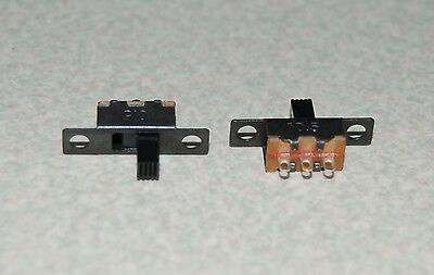 2pcs SS12F15 2 Position On-Off 1P2T SPDT Panel Mini Slide Switch