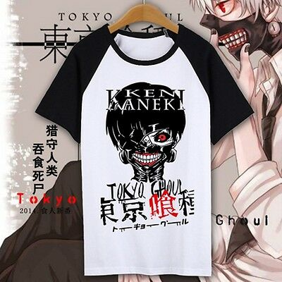 Anime Tokyo ghouls Cosplay Costume Unisex Cotton T-shirt New