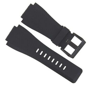 24Mm Rubber Band Strap For Bell Ross Br-01-Br-03 Watch Black Buckle #2
