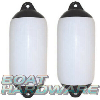 2 x Inflatable Boat Yacht Fender Heavy duty Bumper Flexible White Vinyl180x600mm
