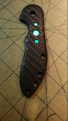 Spyderco Domino Carbon Fiber Moonglow Custom Handle  (KNIFE NOT INCLUDED)