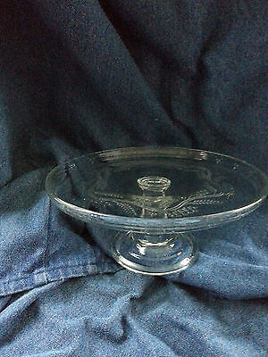 Antique pressed glass cake stand