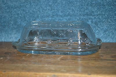 Anchor Hocking , clear glass butter dish