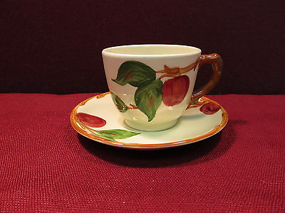 Set of (5) Franciscan Apple Cups & Saucers Lot B