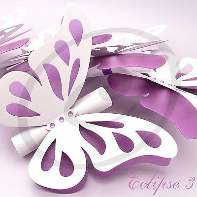 20 Butterfly invitations for wedding, baby shower, baptism or birthday