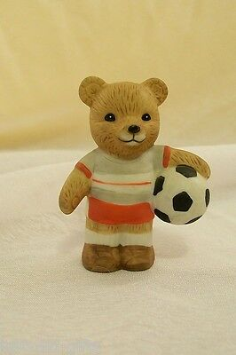 Precious Collectable Porcelain Sports Bear, Soccer Bear By Homeco series 1408