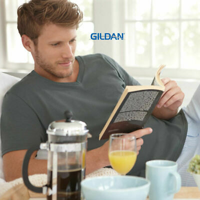 Men's Plain Softstyle Cotton  V-Neck T-Shirt | Gildan Adult Tee | Size S-2XL