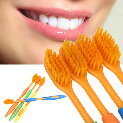 4pcs Double Ultra Soft Toothbrush Bamboo Charcoal Nano Brush Oral Care