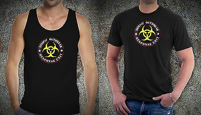 Zombie Outbreak Response Unit Game Movies Inspired tshirt cotton tee shirt