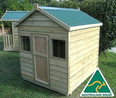 "The ""shelby"" Outdoor Wooden Timber Kids Cubby House Australian Made & Quality!"