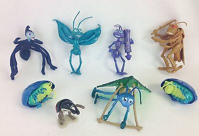 Disney A Bugs Life Figure Lot of 8 w/ Glider Flik Spider Atta Hopper