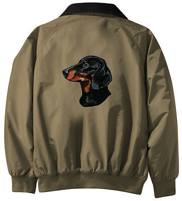 Dachshund Embroidered Jacket - Jacket Back - Sizes XS thru XL
