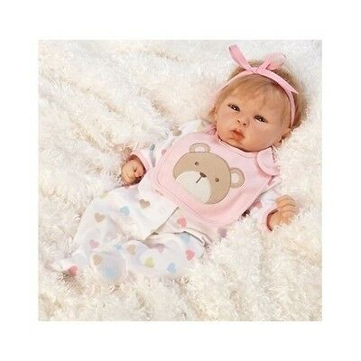 Collectible Baby Doll Realistic Lifelike Weighted Reborn Real Pink Girl Gift New