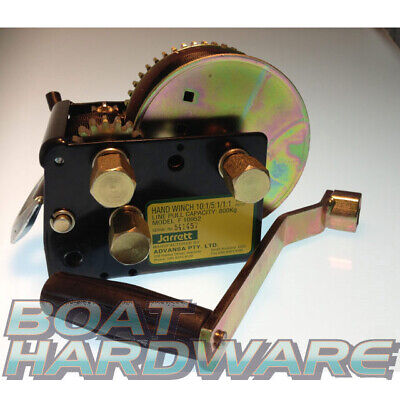 Jarrett TRAILER HAND WINCH 3 Speed 7.5M STRAP 800KG pulling 6Mtr PLUS Boats