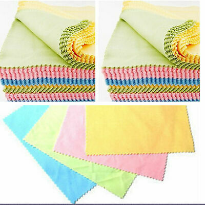 Microfiber Phone Screen Camera Lens Glasses Square Cleaner Cleaning Cloth 10pcs