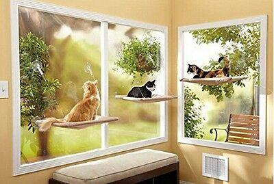 Pet Bed Sunny Seat Window Mounted Cat Bed Pet Home Suction Cups Resting Seat JJ