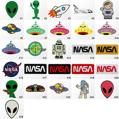#1548R Alien UFO Galaxy NASA Children Kids Embroidered Sew Iron On Patch Badge