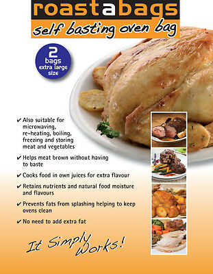 2 Large Turkey Roasting Oven Bags 45X55 Cm - Fantastic