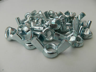 Wing / Butterfly Nuts Bright Zinc Plated To Fit Threads M6 M8 M10