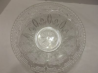 10.5 inch Clear Glass Bowl With Design-Beautiful-