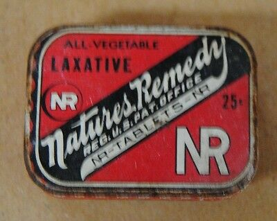 Vintage Nature's Remedy All Vegetable Laxative Tin Lewis-Howe Company St. Louis